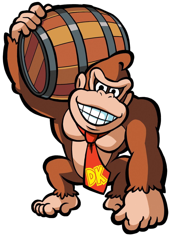 Donkey Kong Holding Barrel.