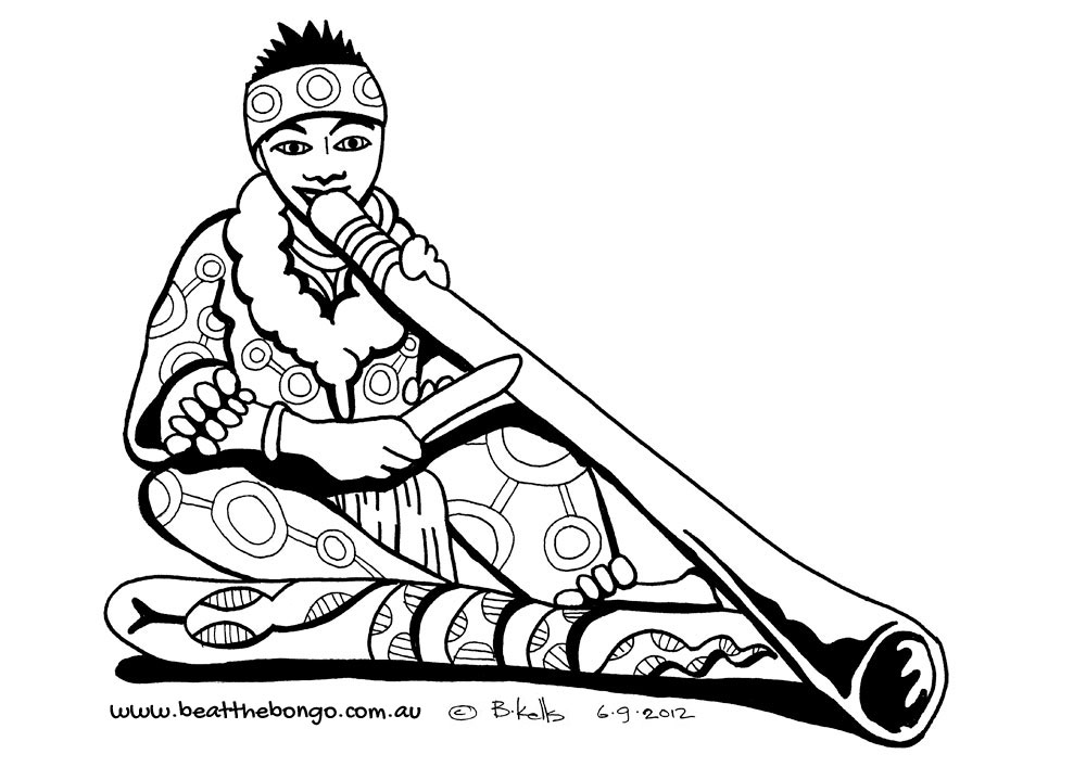 Didgeridoo Colouring Pages Page 2 #qF4Kfb.