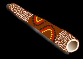 Didgeridoo clipart.