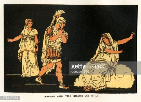 Aeneas and the Shade of Dido Clipart Image.
