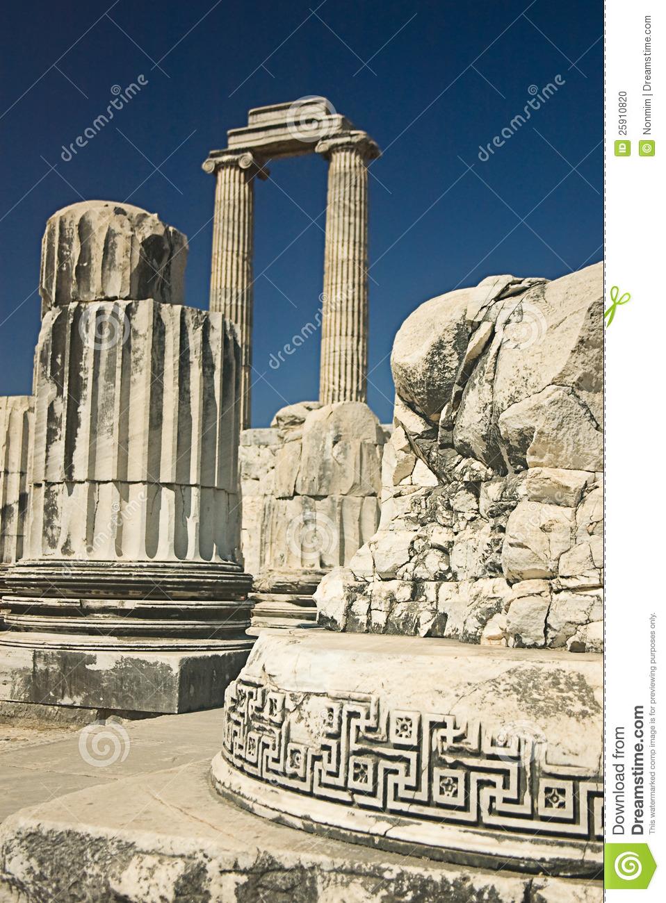 Temple Of Apollo In Didyma, Turkey Stock Photo.