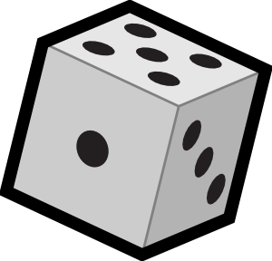 Clip Art Of Numbers On A Die Clipart.