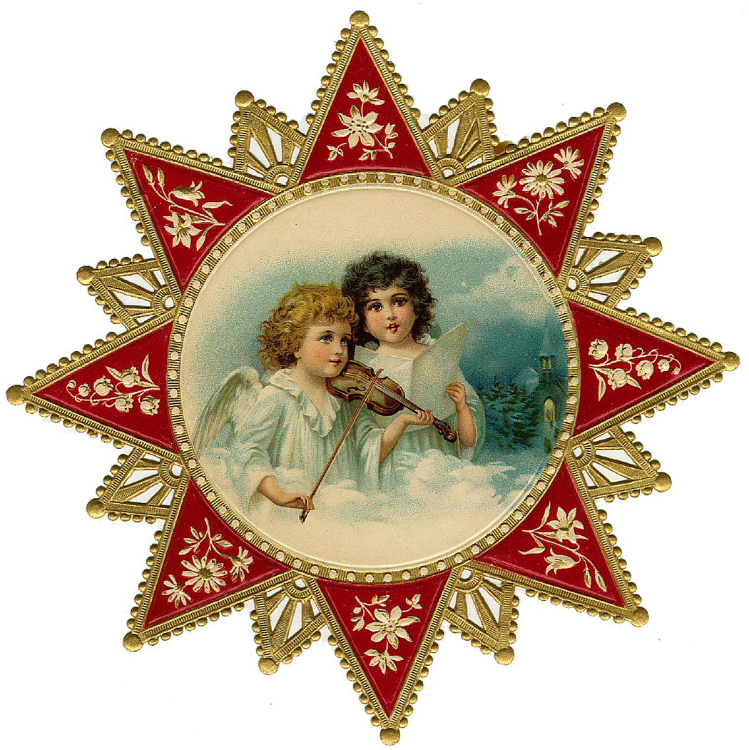 Vintage Victorian Christmas Die Cut Clip Art Day Four #Mvez9o.