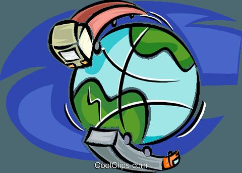 Transporte rings um die Welt Vektor Clipart Bild.