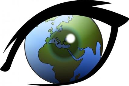 Auge Kann Die Welt Europa Afrika Und Nahen Osten Aus.