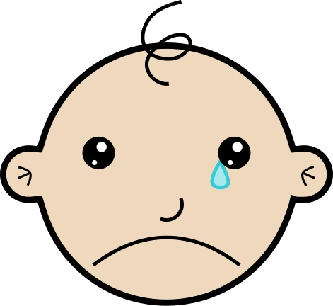 Baby died clipart.