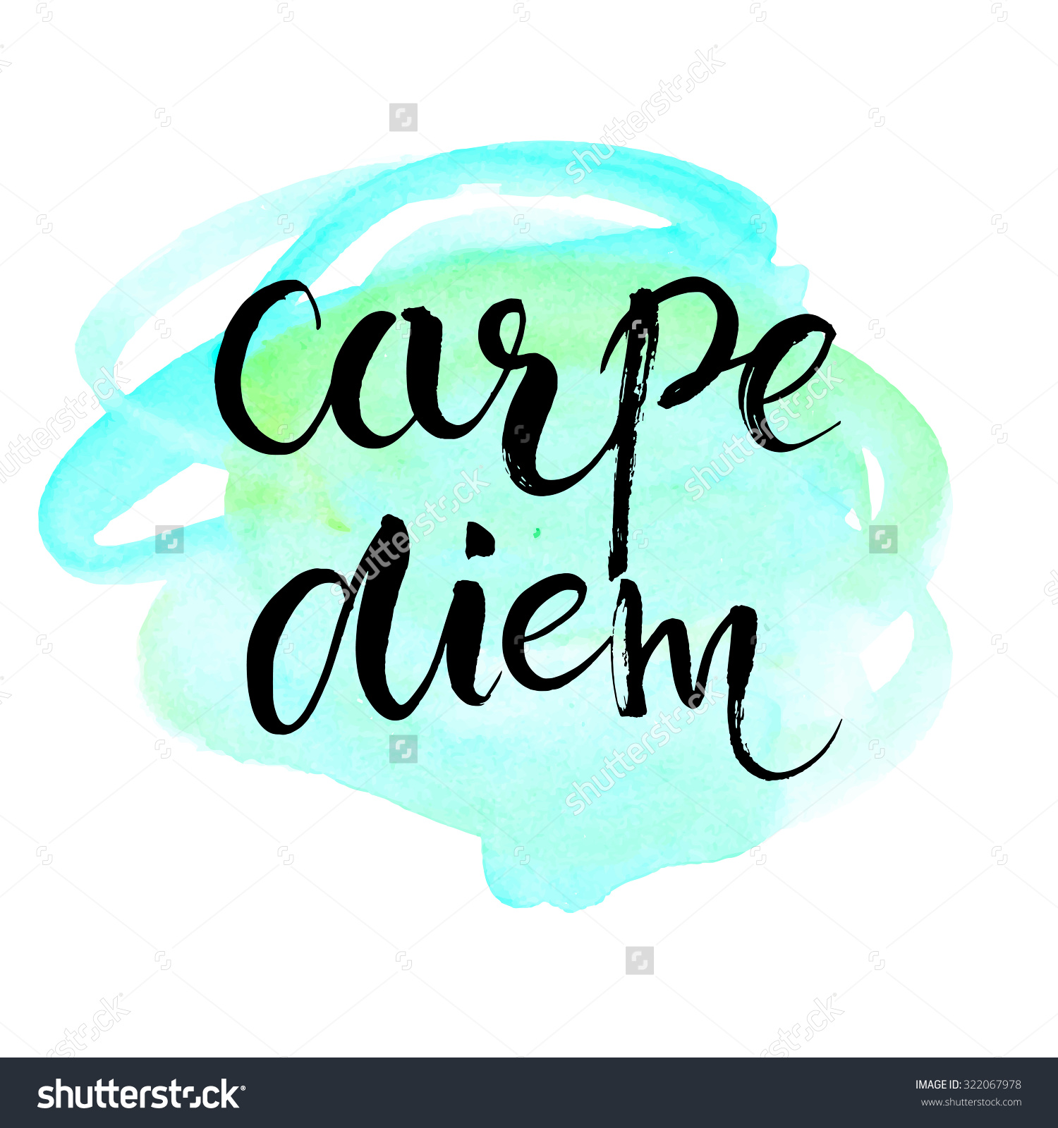 Carpe Diem Latin Phrase Means Seize Stock Vector 322067978.