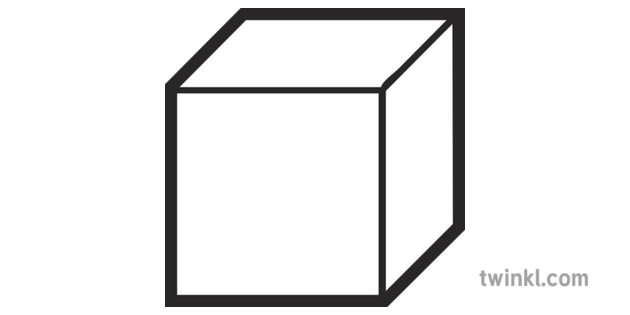 Dienes Unit Cube Black and White Illustration.