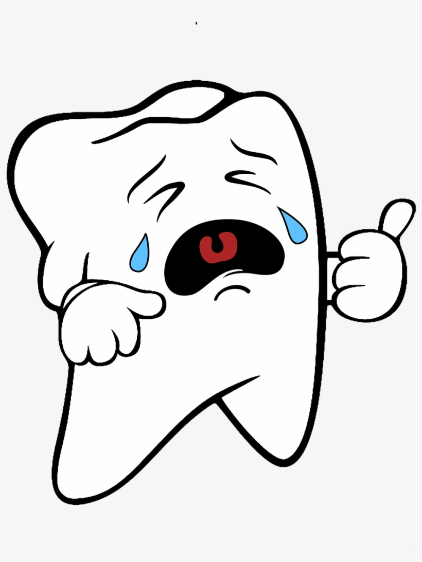 Crying Tooth Clipart.