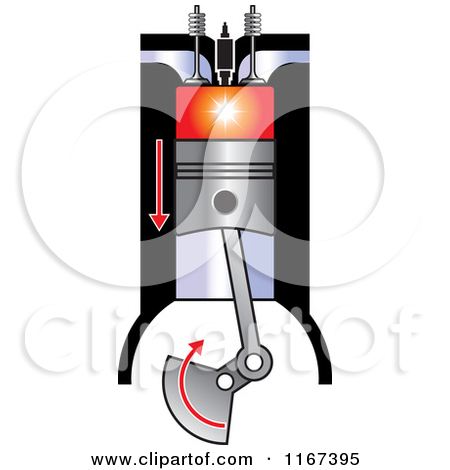 Diesel engine clip art.