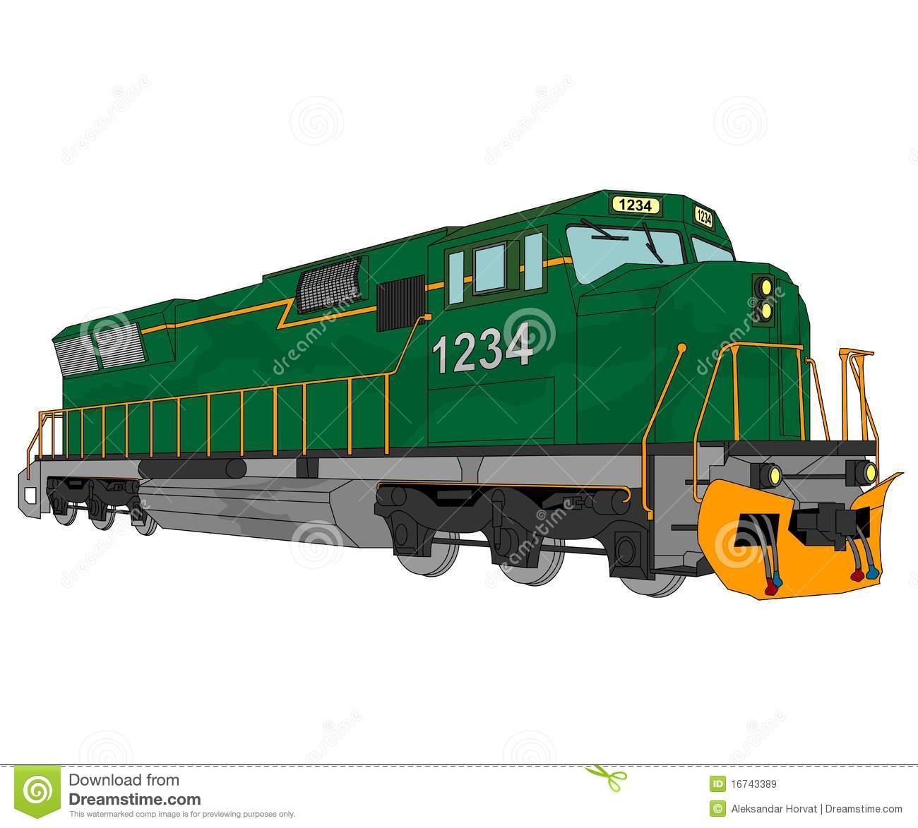 Diesel Locomotive Illustration Royalty Free Stock Images.