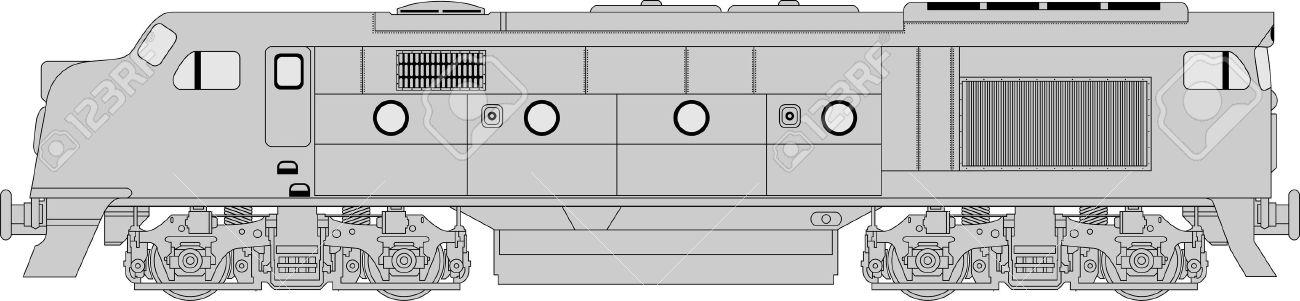 High Detailed Vector Illustration Of Modern Diesel.