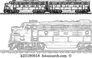 Diesel locomotive Clipart EPS Images. 196 diesel locomotive clip.