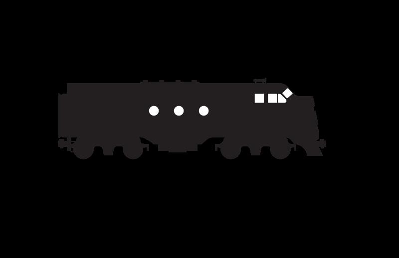 Diesel locomotive clipart.