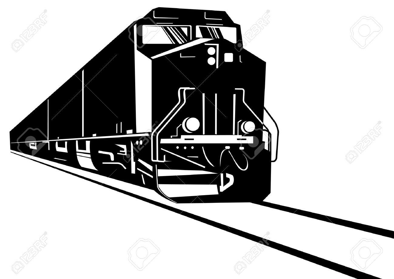 Diesel train clipart.