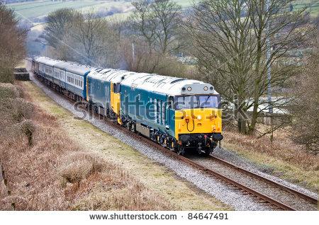 Diesel Locomotive Stock Photos, Royalty.