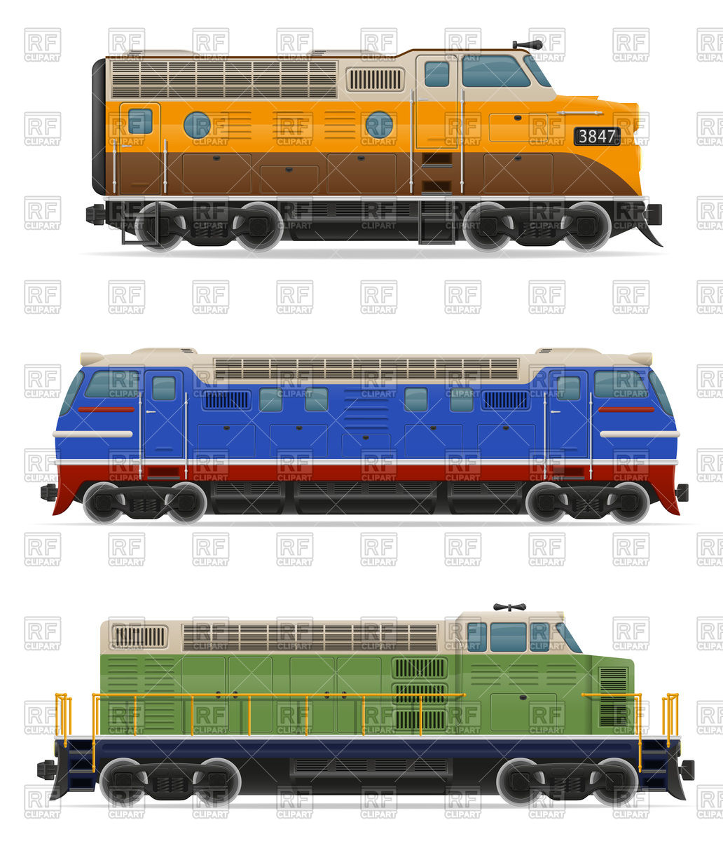 Diesel and electric locomotives.
