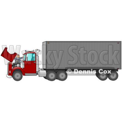 Diesel Truck Clipart by Dennis Cox.