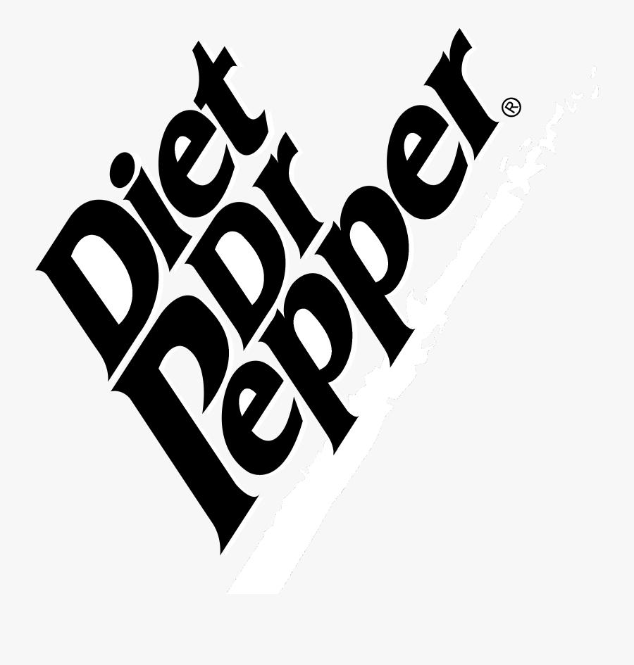 Diet Dr Pepper Logo Black And White.
