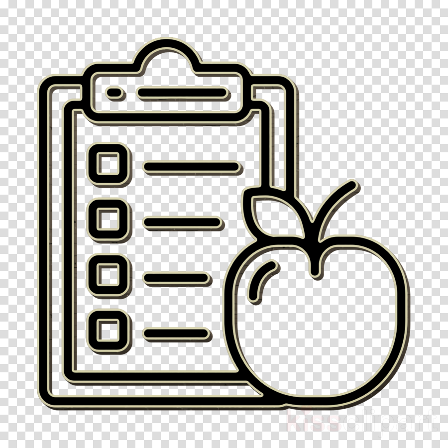 Diet and nutrition icon Diet icon clipart.