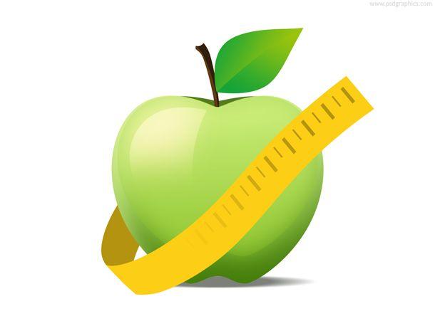 Apple diet icon.