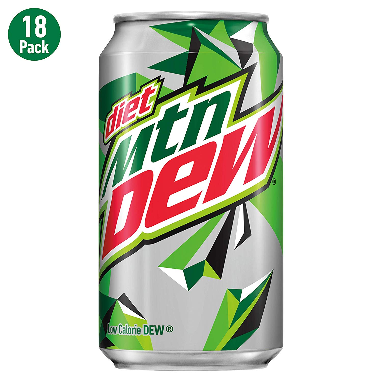 Diet Mtn Dew, 12 Fl Oz Cans, Pack of 18 (Packaging May Vary).