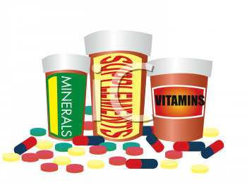 Dietary Supplements Clip Art.