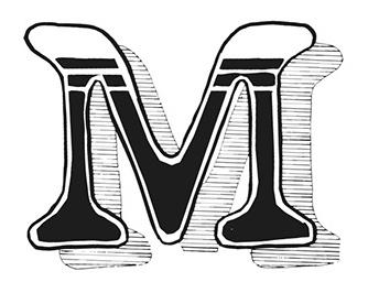 Ornamental caps typefaces.