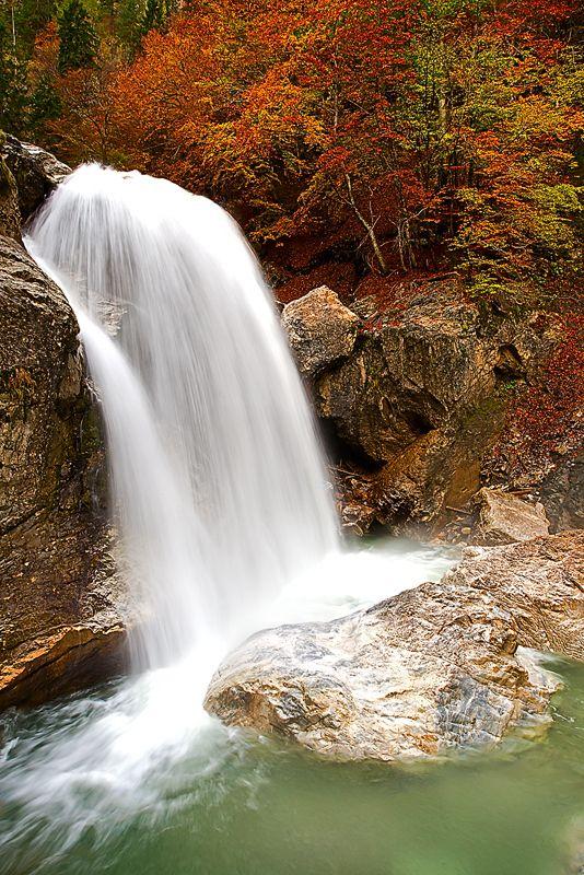 Garnitzenklamm Herbst, Carinthia, Austria.