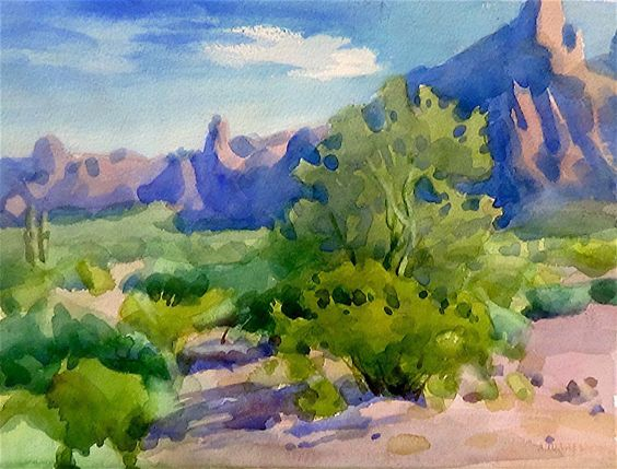 Watercolors and Palo verde on Pinterest.