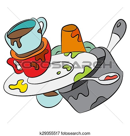 Dirty dishes clipart images.