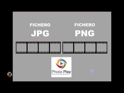 diferencias entre fichero JPG y PNG.