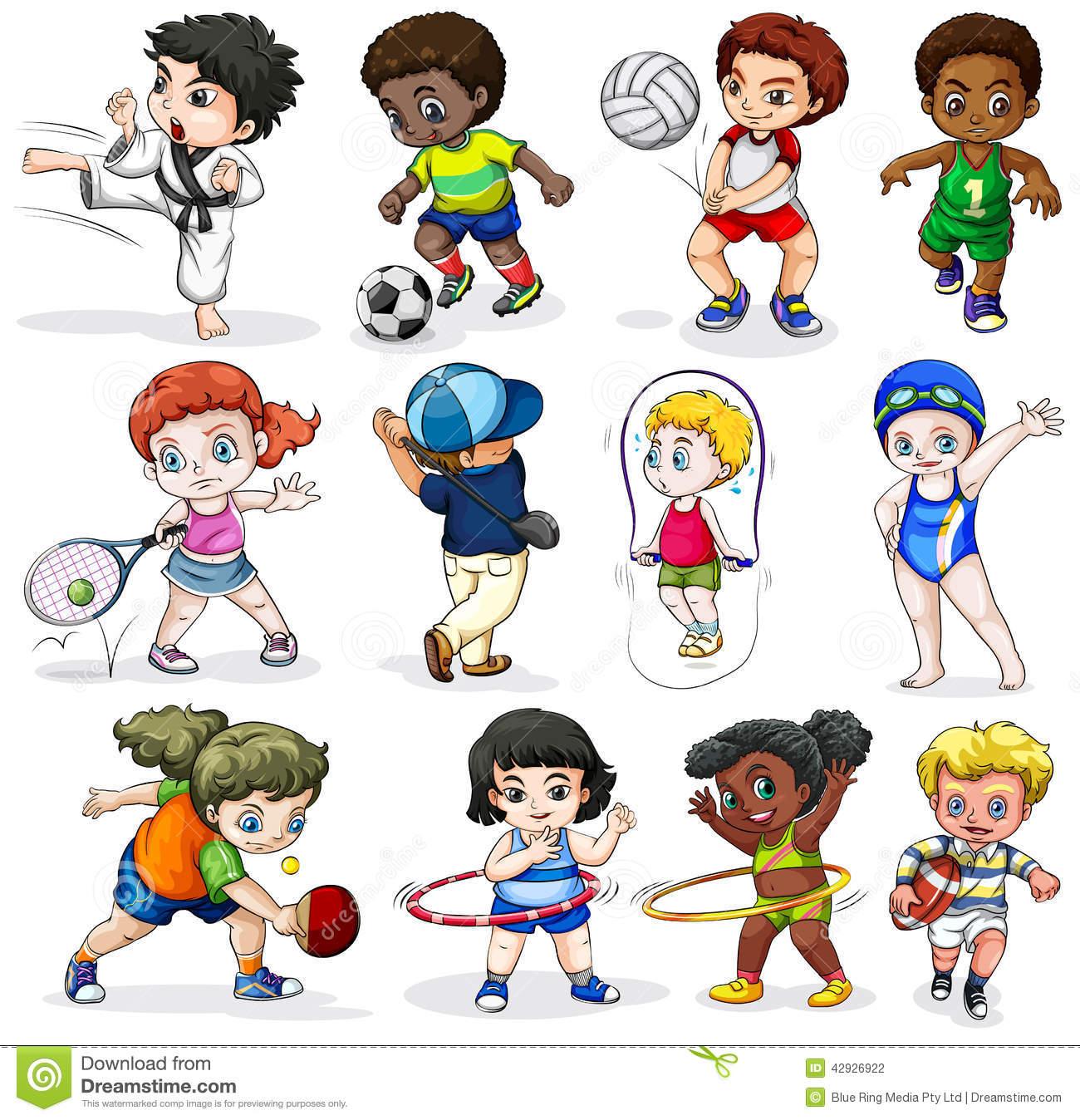 sports activities clipart sport activity different engaging lllustration background diff clipground outdoor activit rentes blanc fond dans sur un cliparts