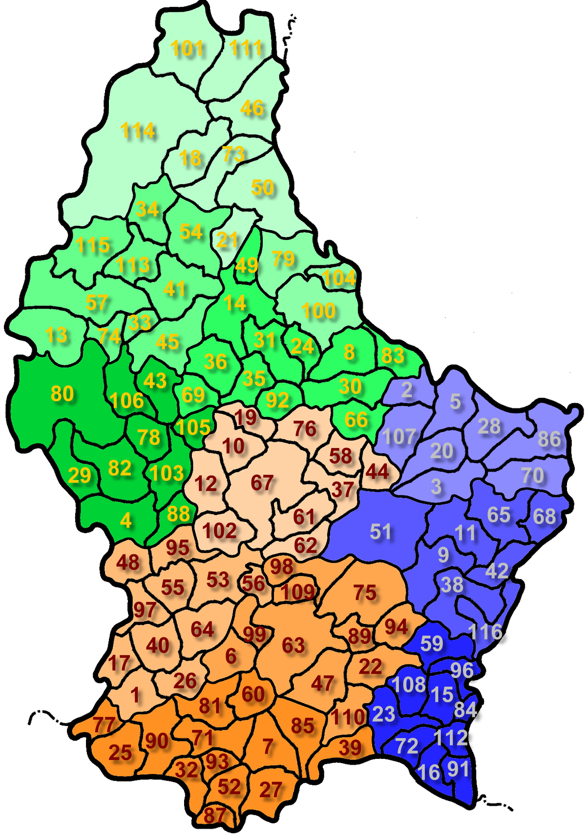 Communes of Luxembourg.