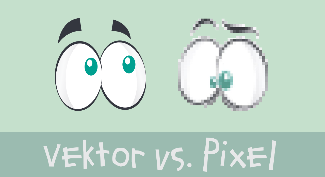The difference between pixel and vector graphics.
