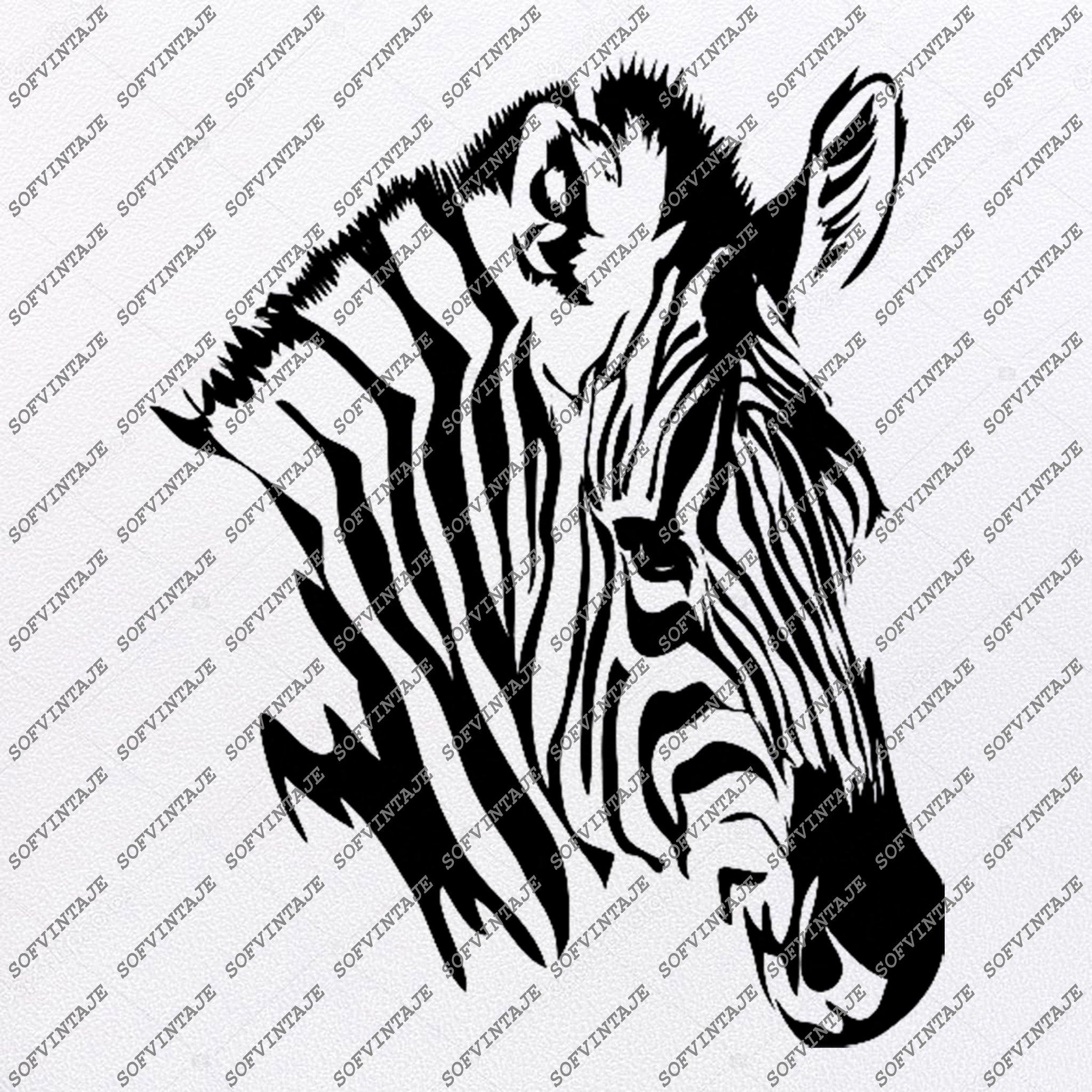 Zebra Horse Svg File.