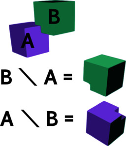 Difference Of Two Cubes Clipart.