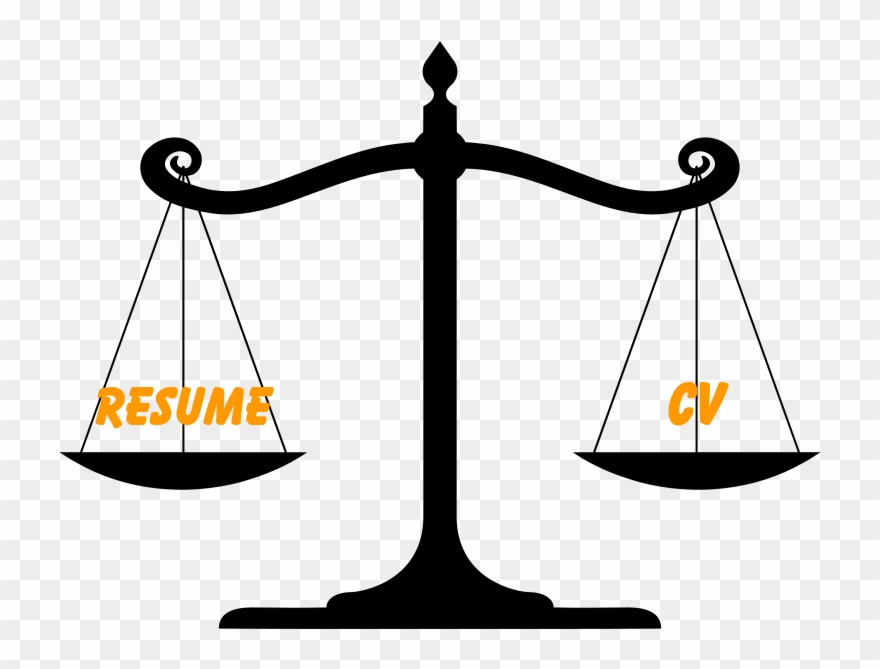 Difference Between Resume And Cv Clipart (#2519035).
