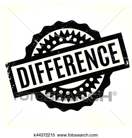 Difference rubber stamp Clipart.