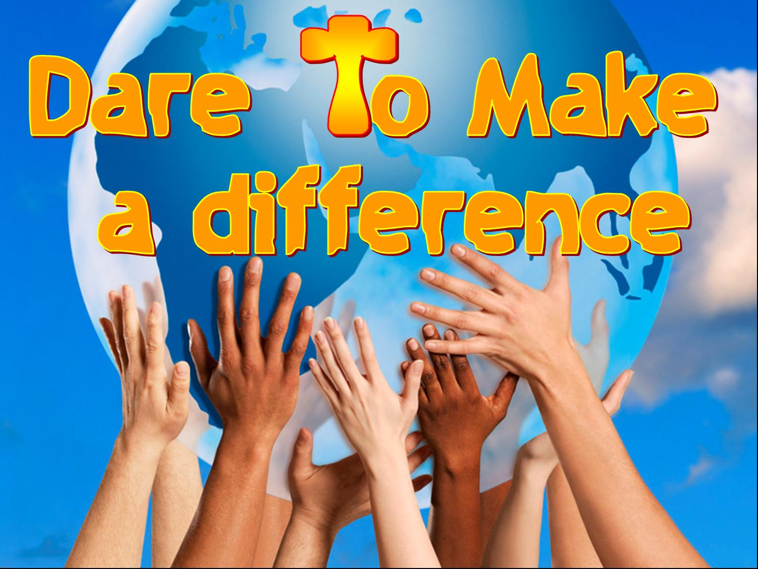 Make a difference clipart.
