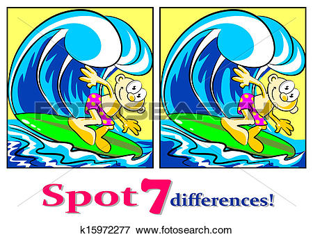 Clip Art of The surfer.