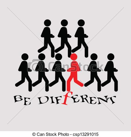 Be different Stock Illustrations. 3,689 Be different clip art.
