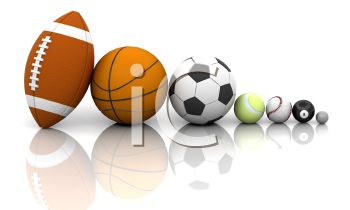 Different Kinds of Sports Balls in 3D.
