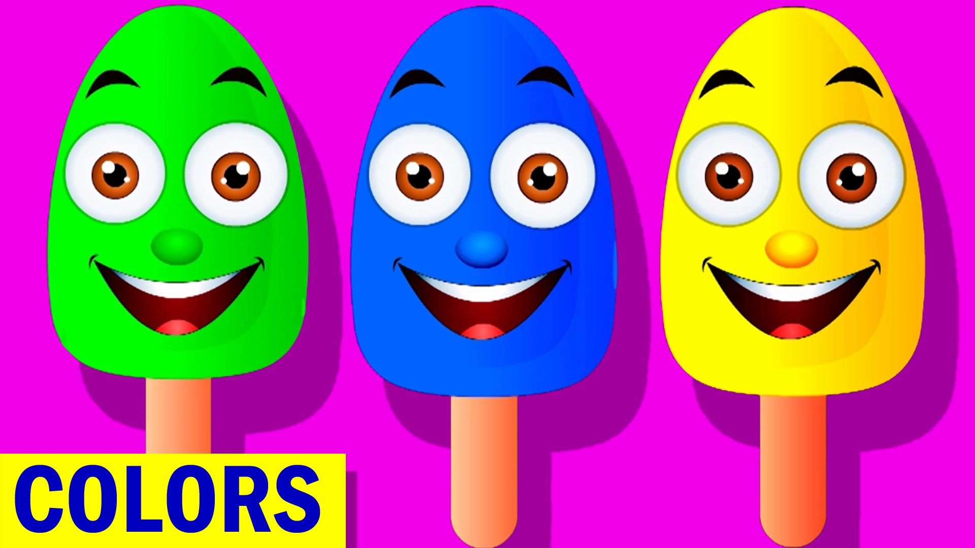 Learn Colors with Ice Cream, Teach Colours, Baby Children Kids.