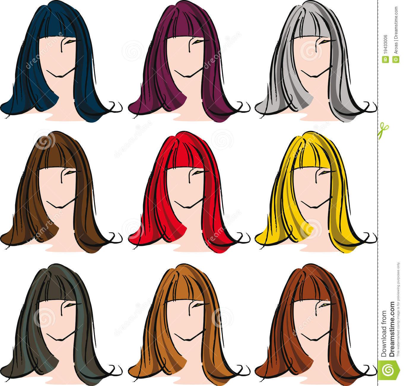 Hair Color Clipart.