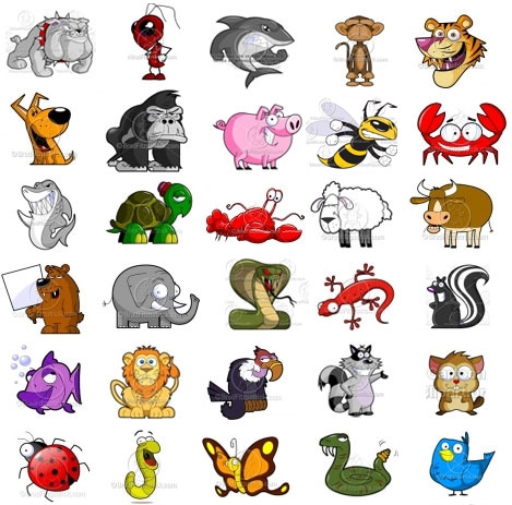 Different Animals Clipart.