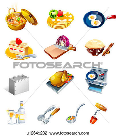 Clip Art of Different types of food favors u12645232.