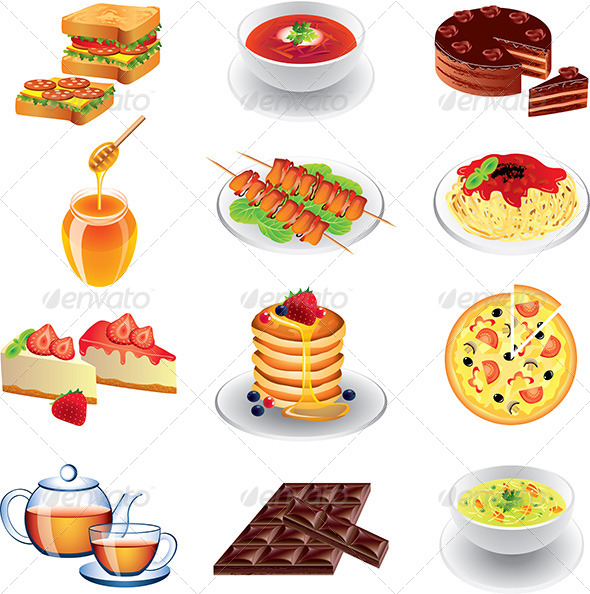 Different Types of Food.