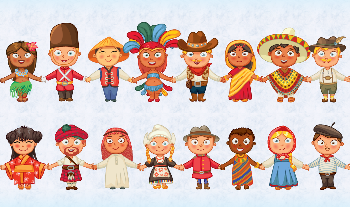 Image result for different colour people clipart.