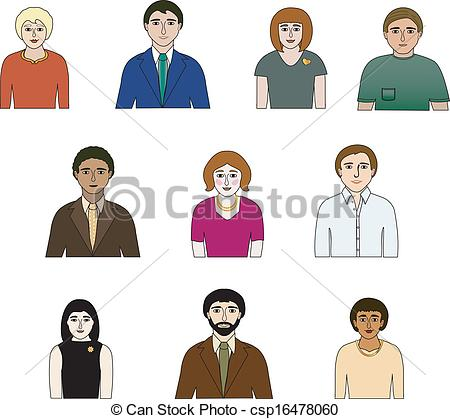 Different People Clipart.